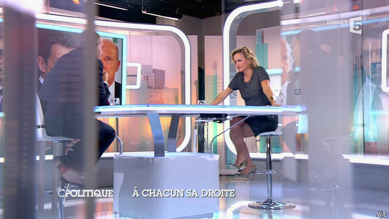 Caroline Roux dans C Politique. Diffusé à la télévision le 05/10/14.