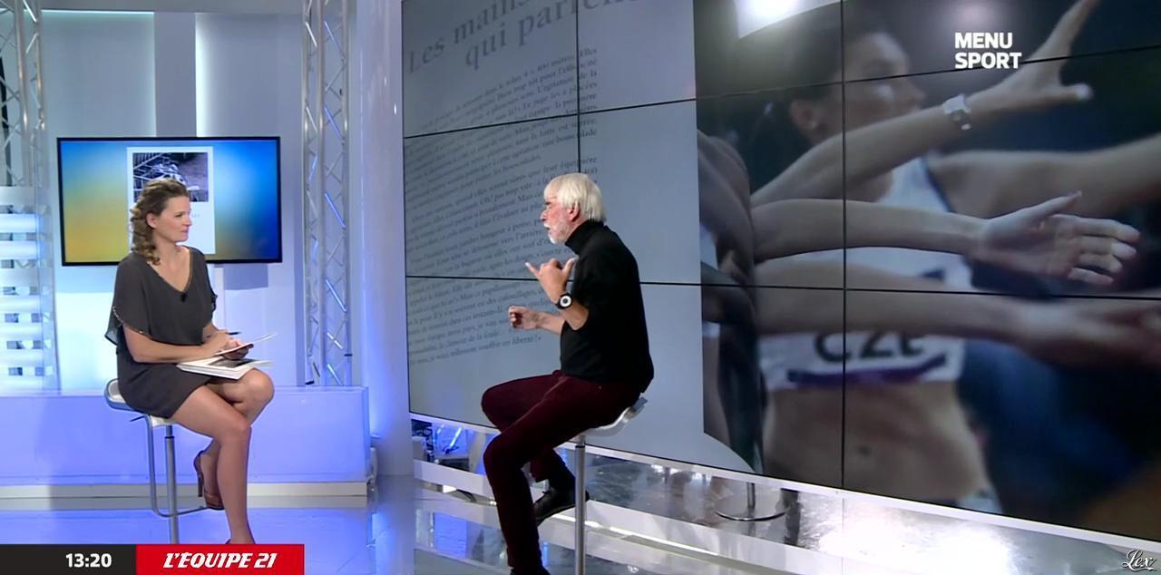 France Pierron dans Menu Sport. Diffusé à la télévision le 10/10/14.