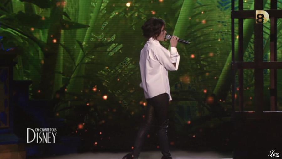 Jenifer Bartoli dans On Chante Tous Disney. Diffusé à la télévision le 13/12/13.