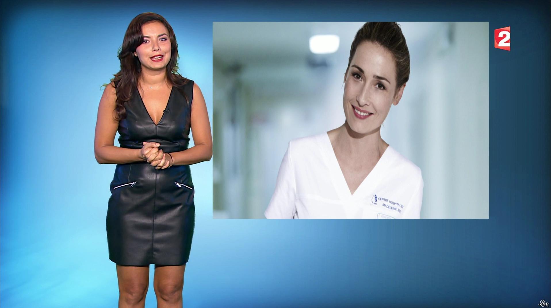 Anaïs Baydemir à la Météo du Soir. Diffusé à la télévision le 26/10/16.