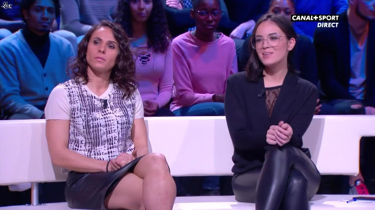 Agathe Auproux et JessiÇa Houara dans 19h30 PM. Diffusé à la télévision le 24/11/17.