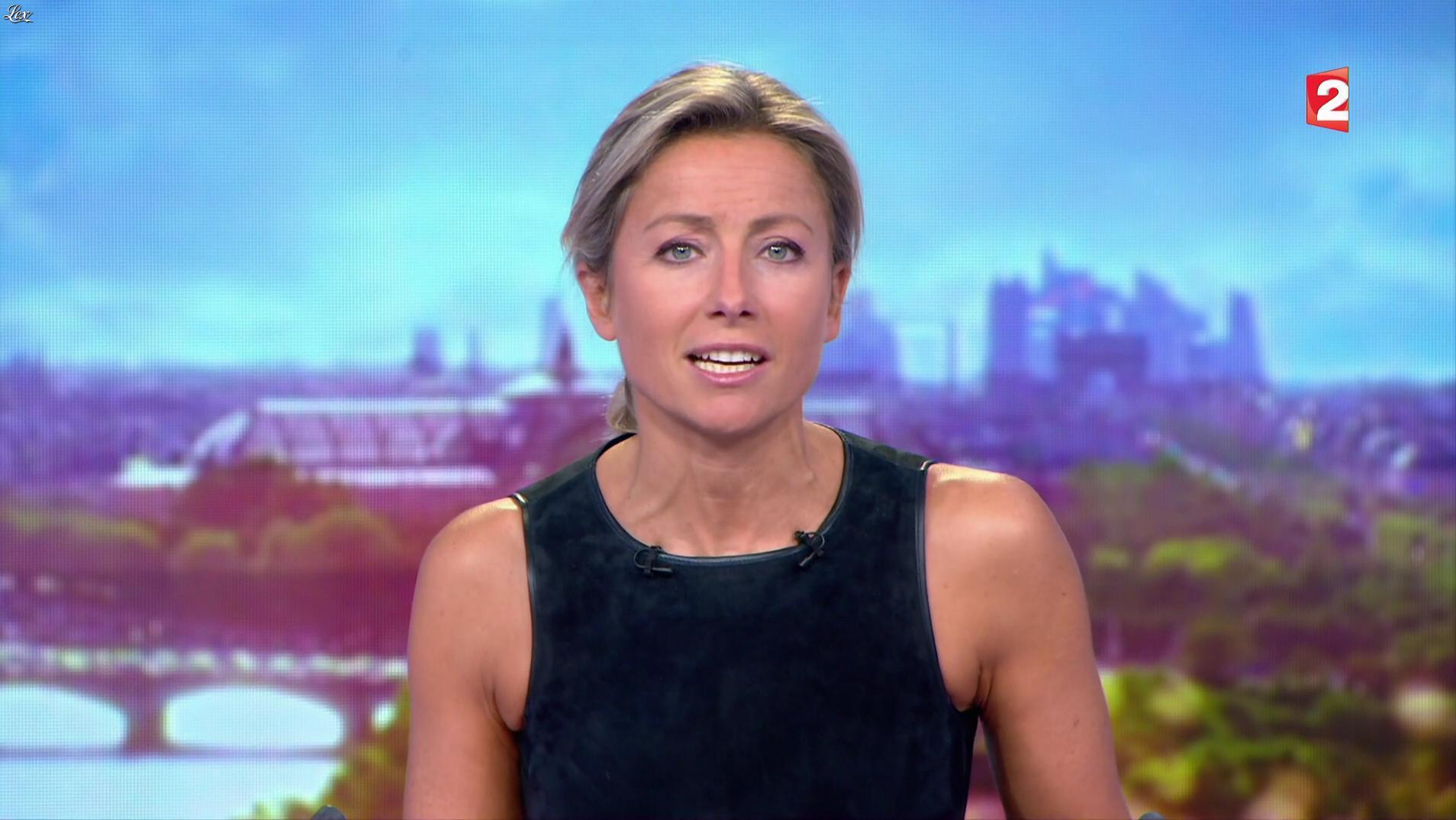 Anne-Sophie Lapix dans le 20h. Diffusé à la télévision le 20/09/17.