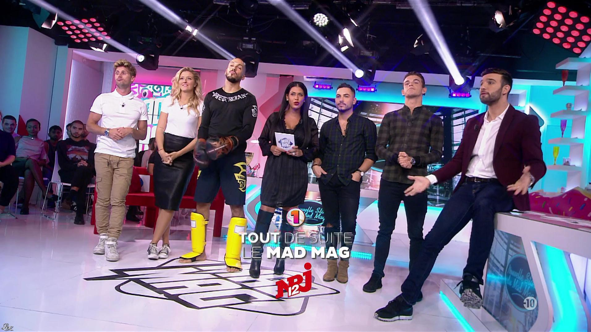 Ayem Nour et Emilie Picch dans le Mad Mag. Diffusé à la télévision le 25/10/17.