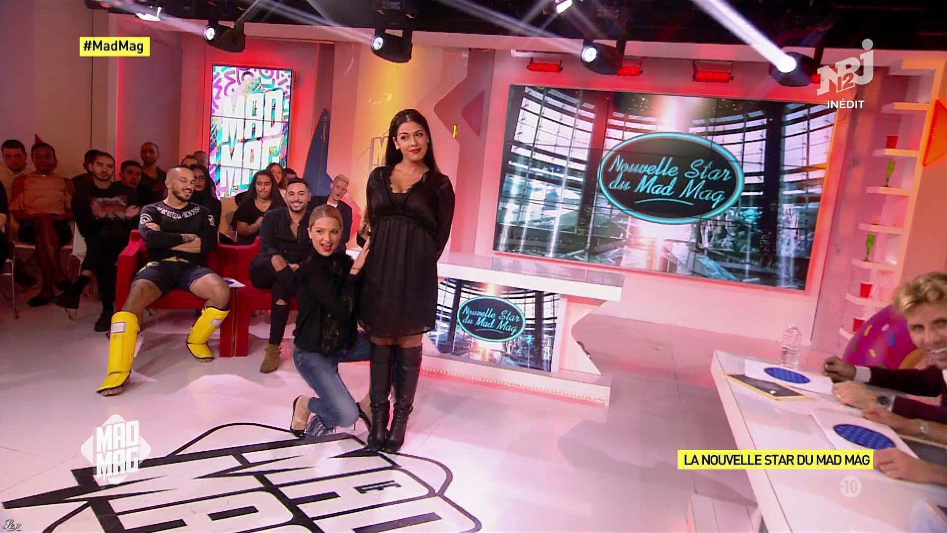 Ayem Nour et Fiona Deshayes dans le Mad Mag. Diffusé à la télévision le 25/10/17.