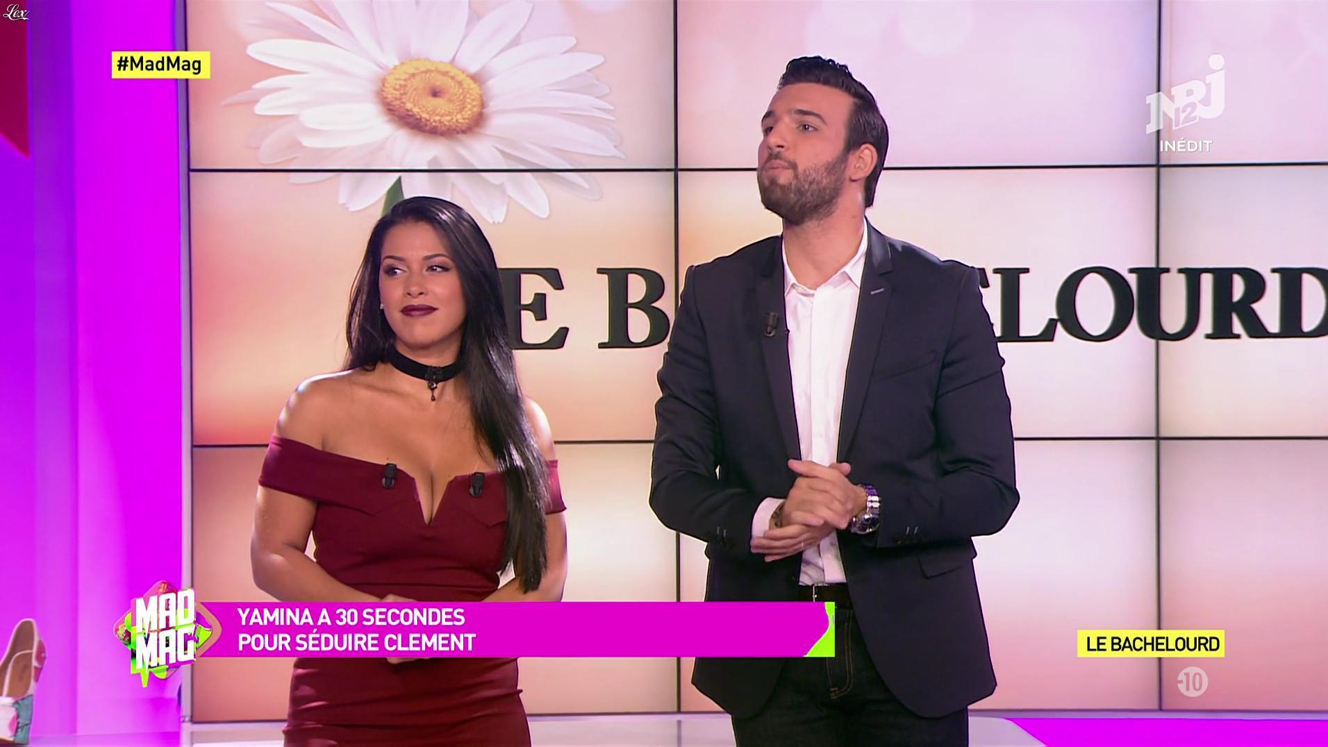 Ayem Nour dans le Mad Mag. Diffusé à la télévision le 18/09/17.