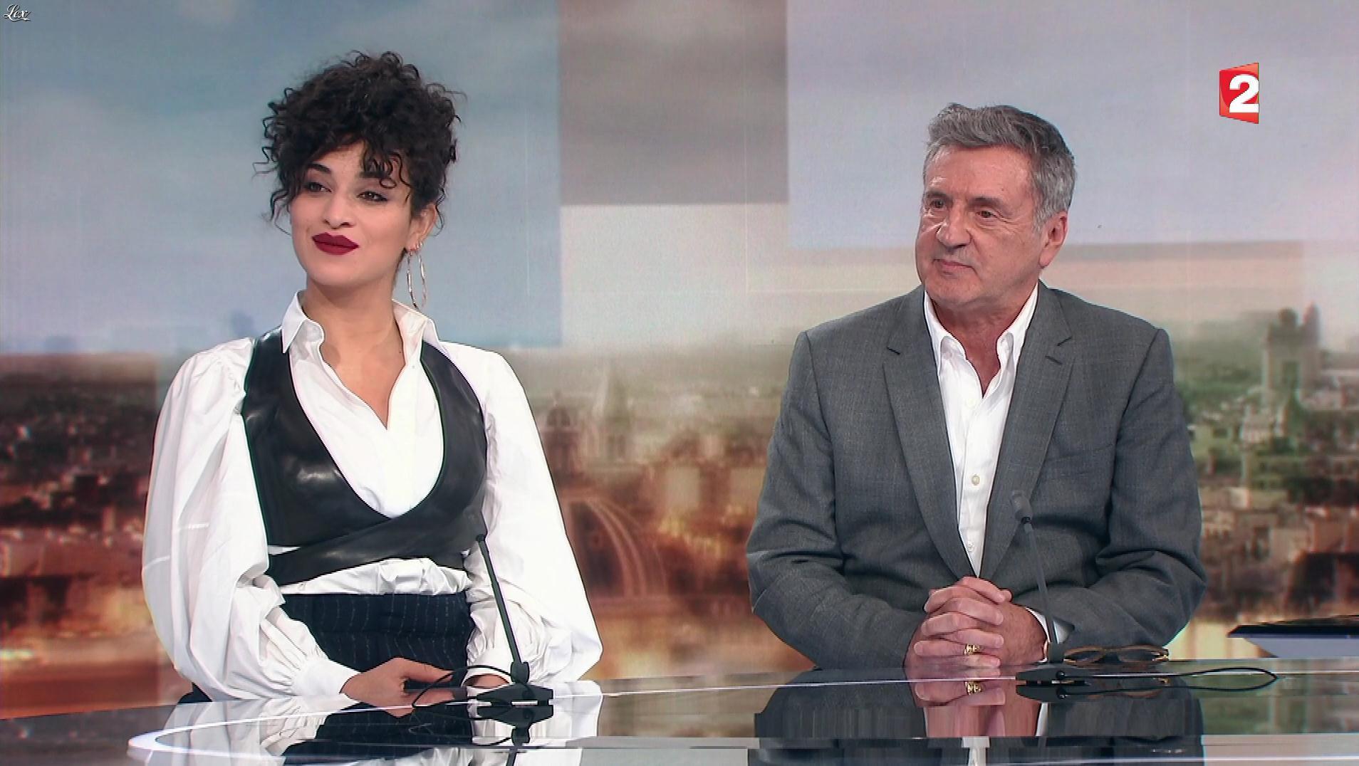 Camelia Jordana dans 20 heures. Diffusé à la télévision le 11/11/17.
