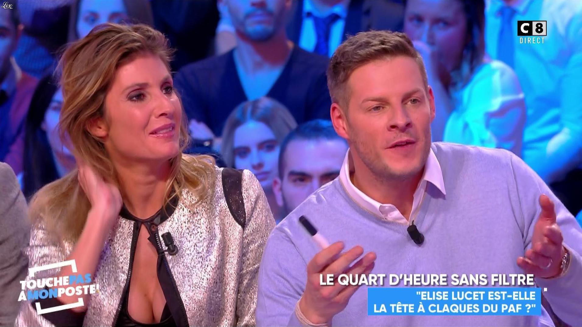 Caroline Ithurbide dans Touche pas à mon Poste. Diffusé à la télévision le 23/11/17.