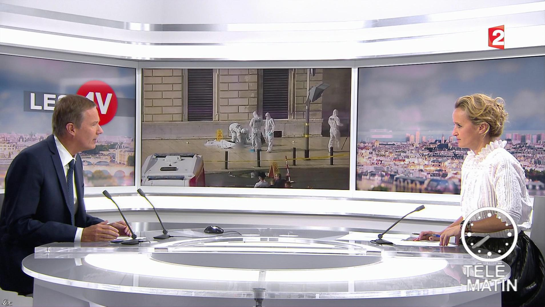 Caroline Roux dans les 4 Vérités. Diffusé à la télévision le 02/10/17.