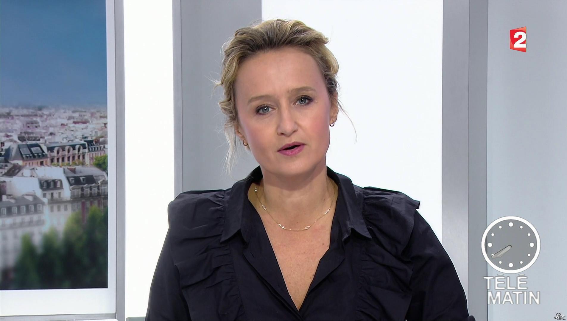 Caroline Roux dans les 4 Vérités. Diffusé à la télévision le 12/10/17.