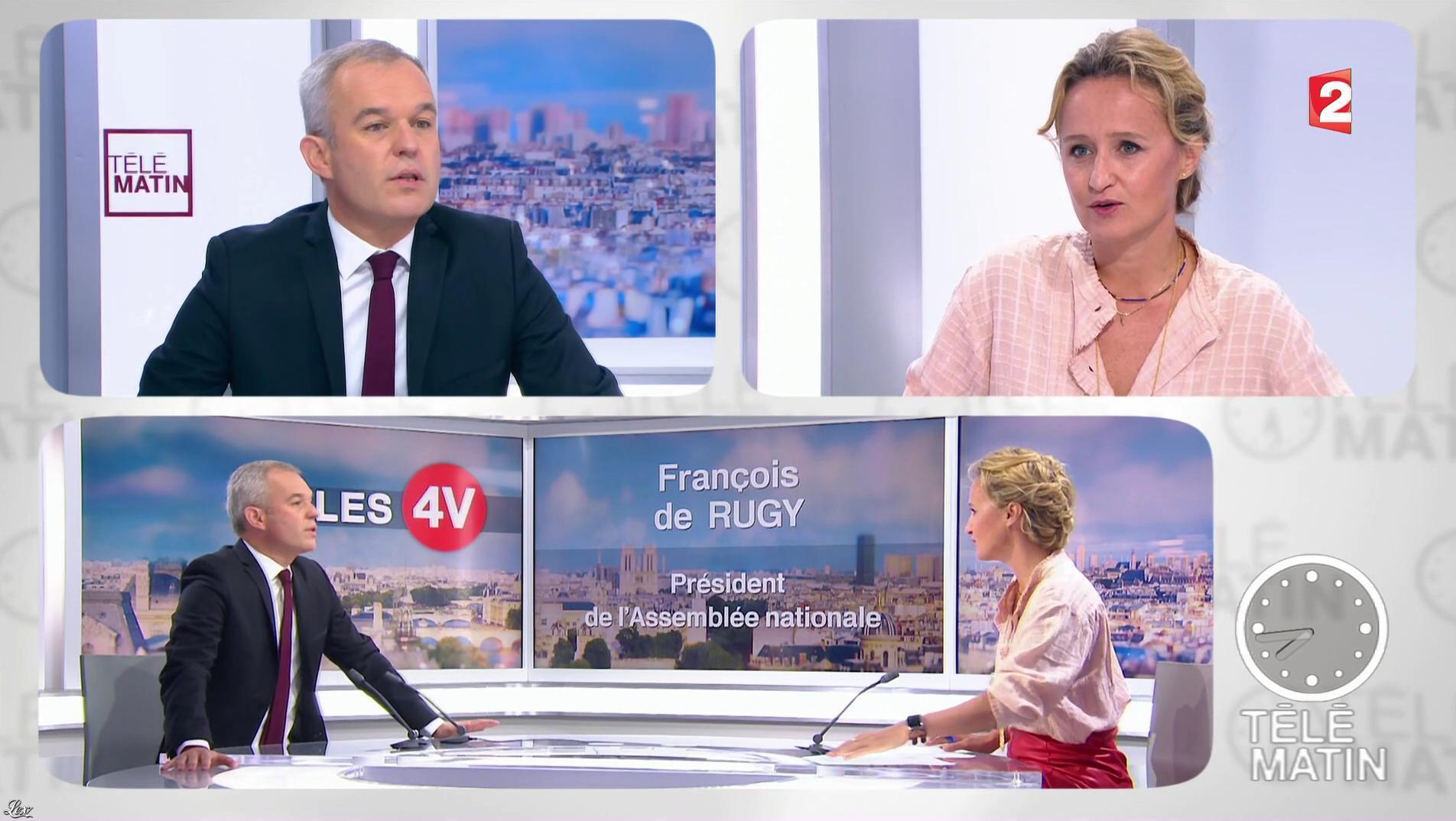 Caroline Roux dans les 4 Vérités. Diffusé à la télévision le 25/09/17.