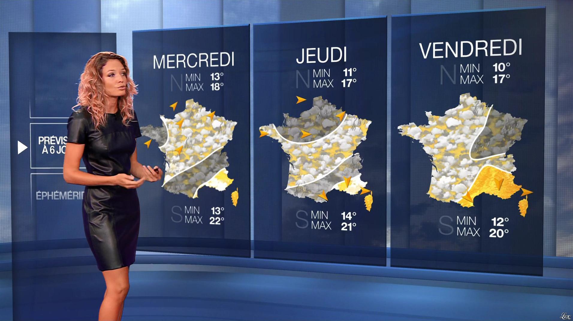 Gennifer Demey à la Météo du Soir. Diffusé à la télévision le 08/09/17.