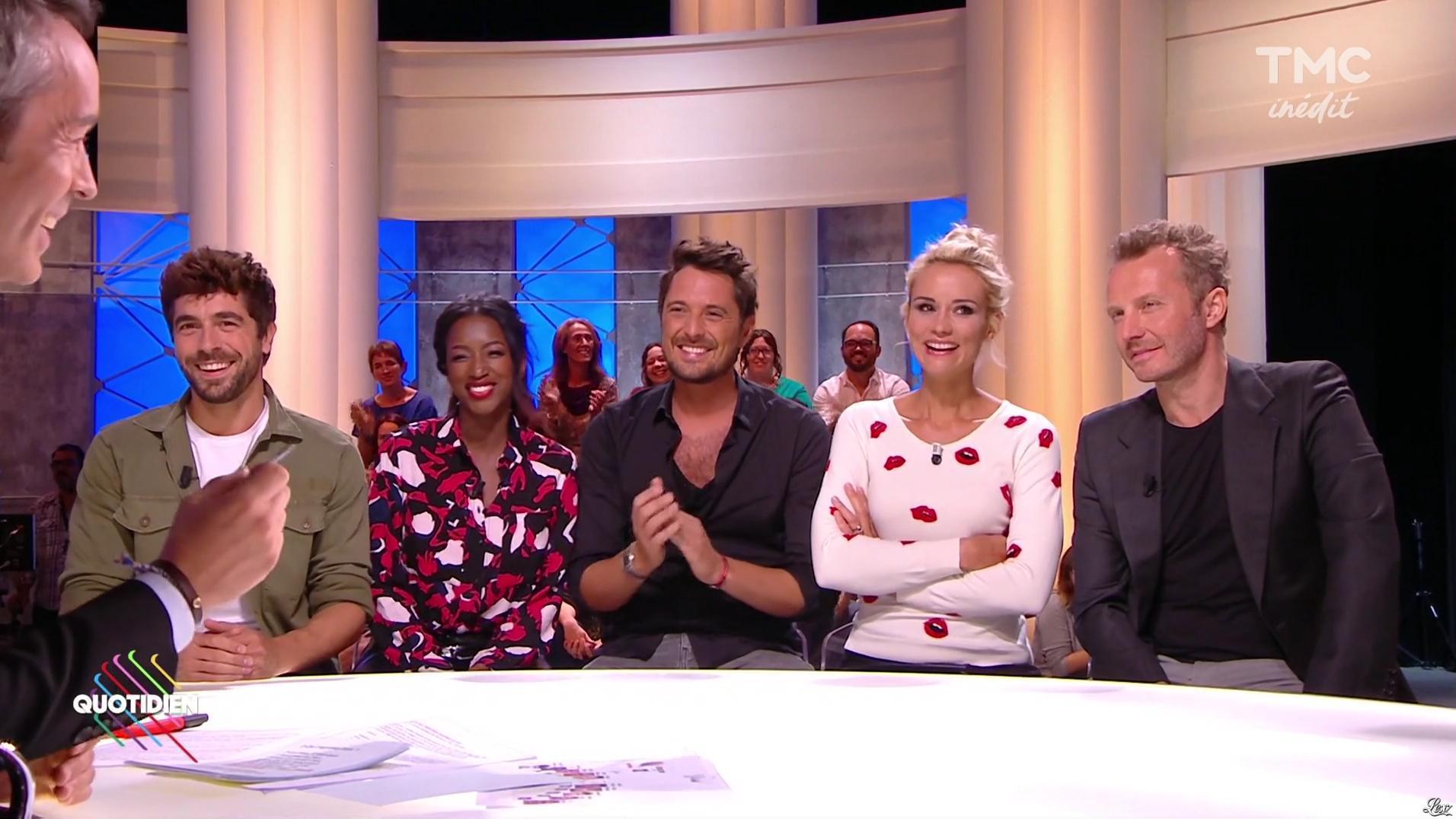 Hapsatou Sy et Elodie Gossuin dans Quotidien. Diffusé à la télévision le 11/09/17.