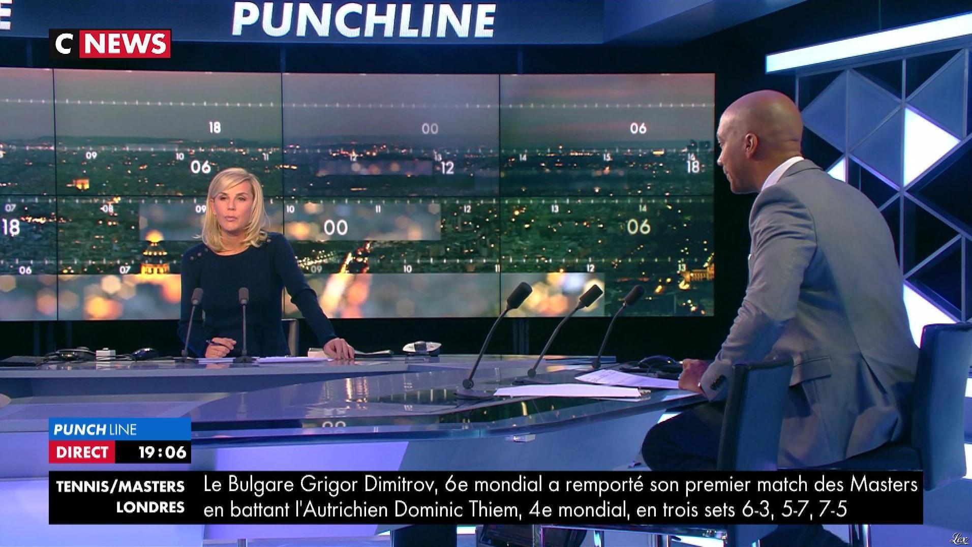 Laurence Ferrari dans Punchline. Diffusé à la télévision le 13/11/17.