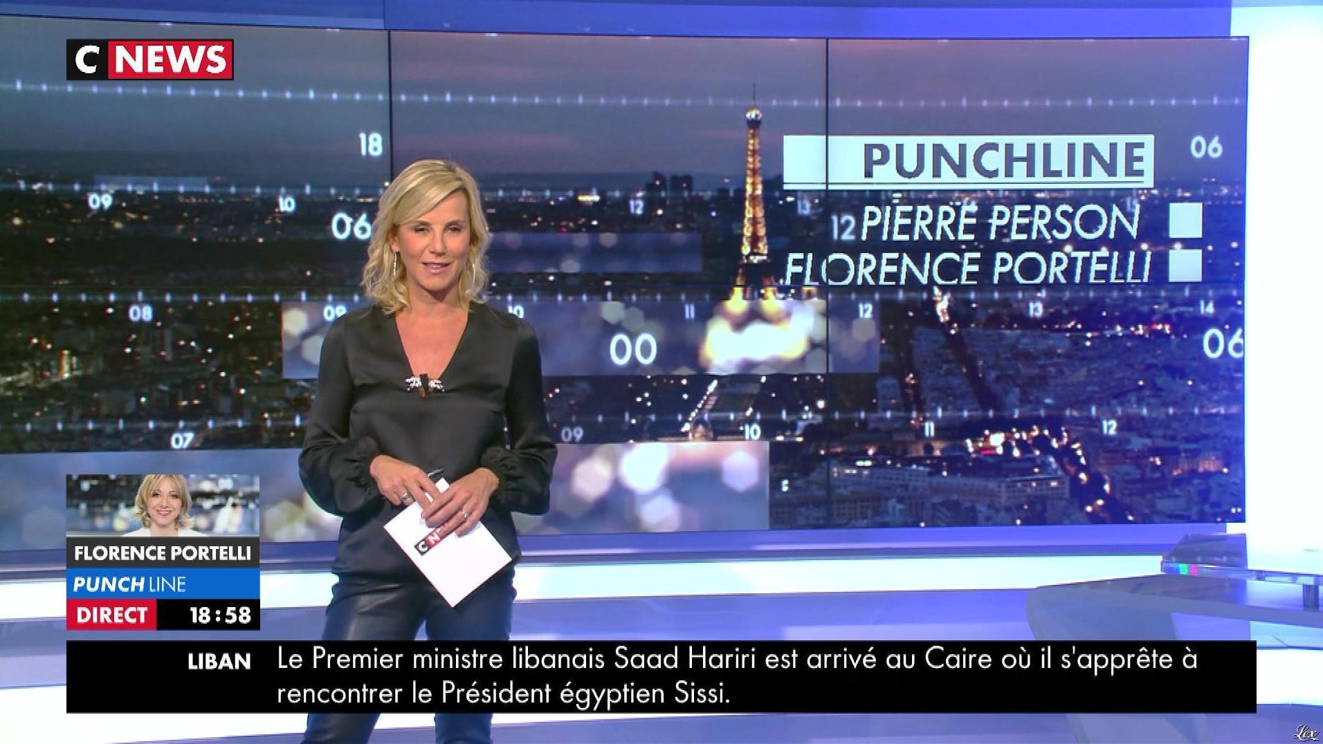Laurence Ferrari dans Punchline. Diffusé à la télévision le 21/11/17.