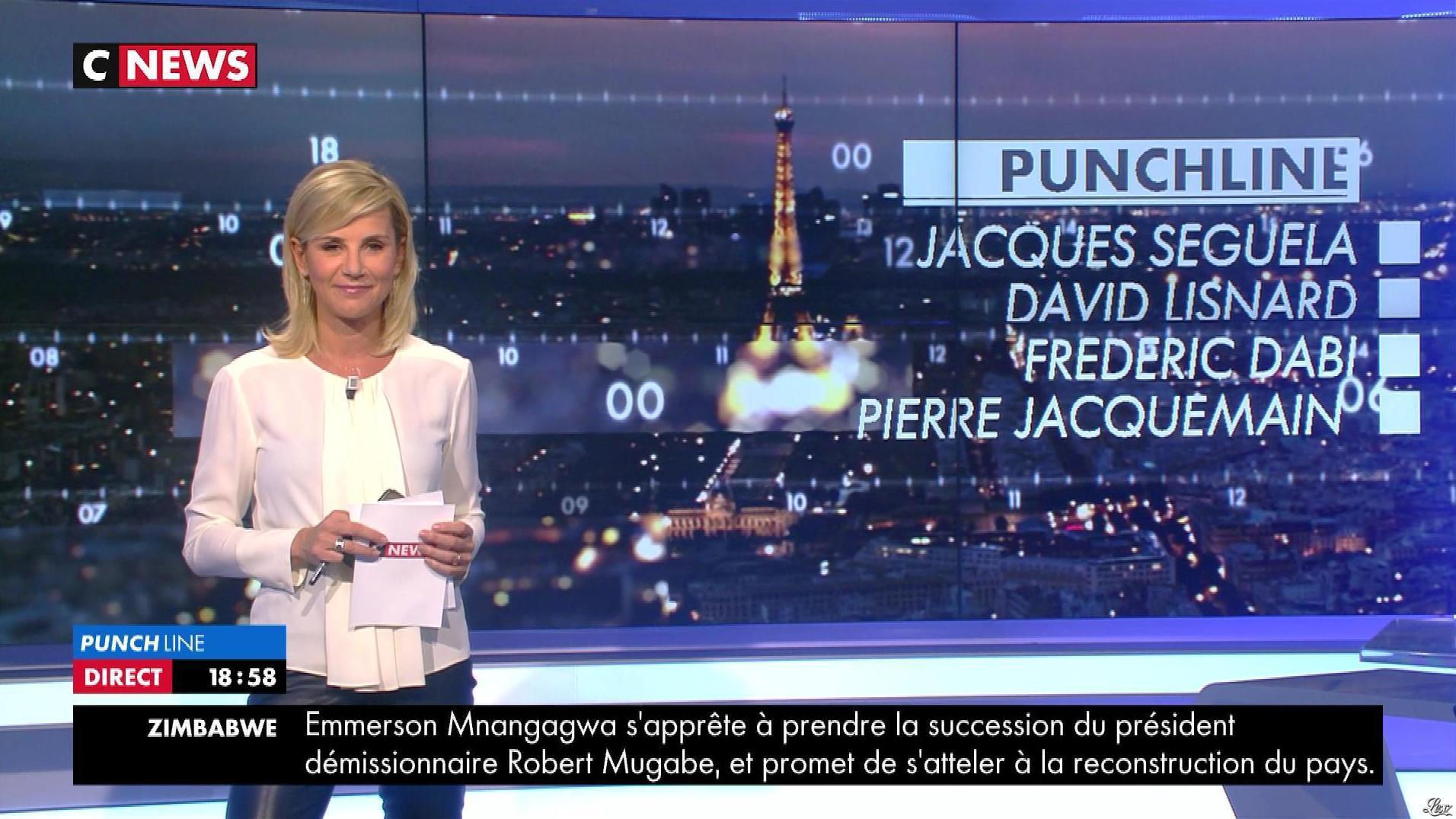 Laurence Ferrari dans Punchline. Diffusé à la télévision le 23/11/17.