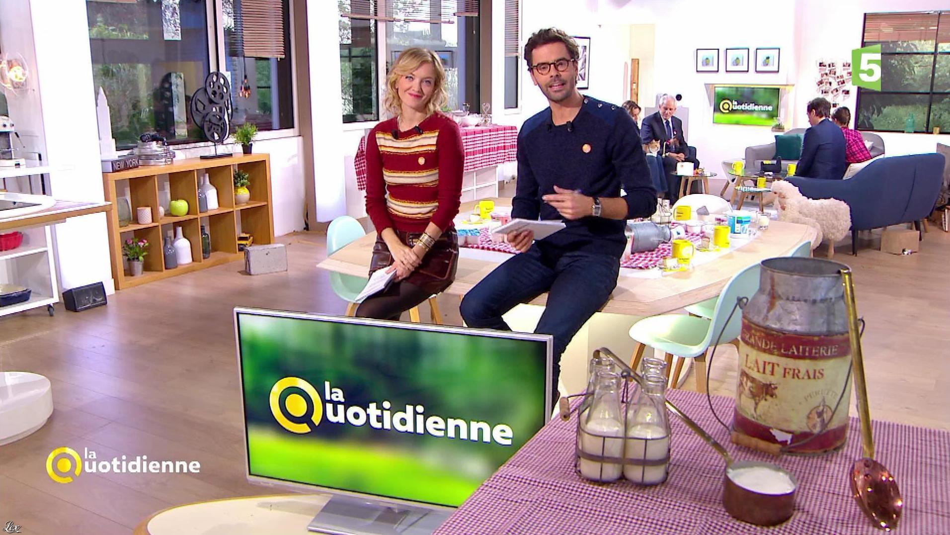Maya Lauqué dans la Quotidienne. Diffusé à la télévision le 01/11/17.