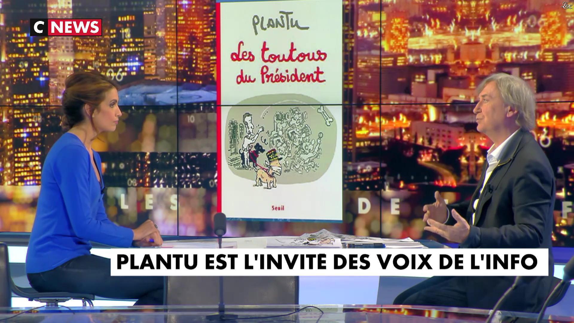 Sonia Mabrouk dans les Voix de l'Info. Diffusé à la télévision le 06/11/17.