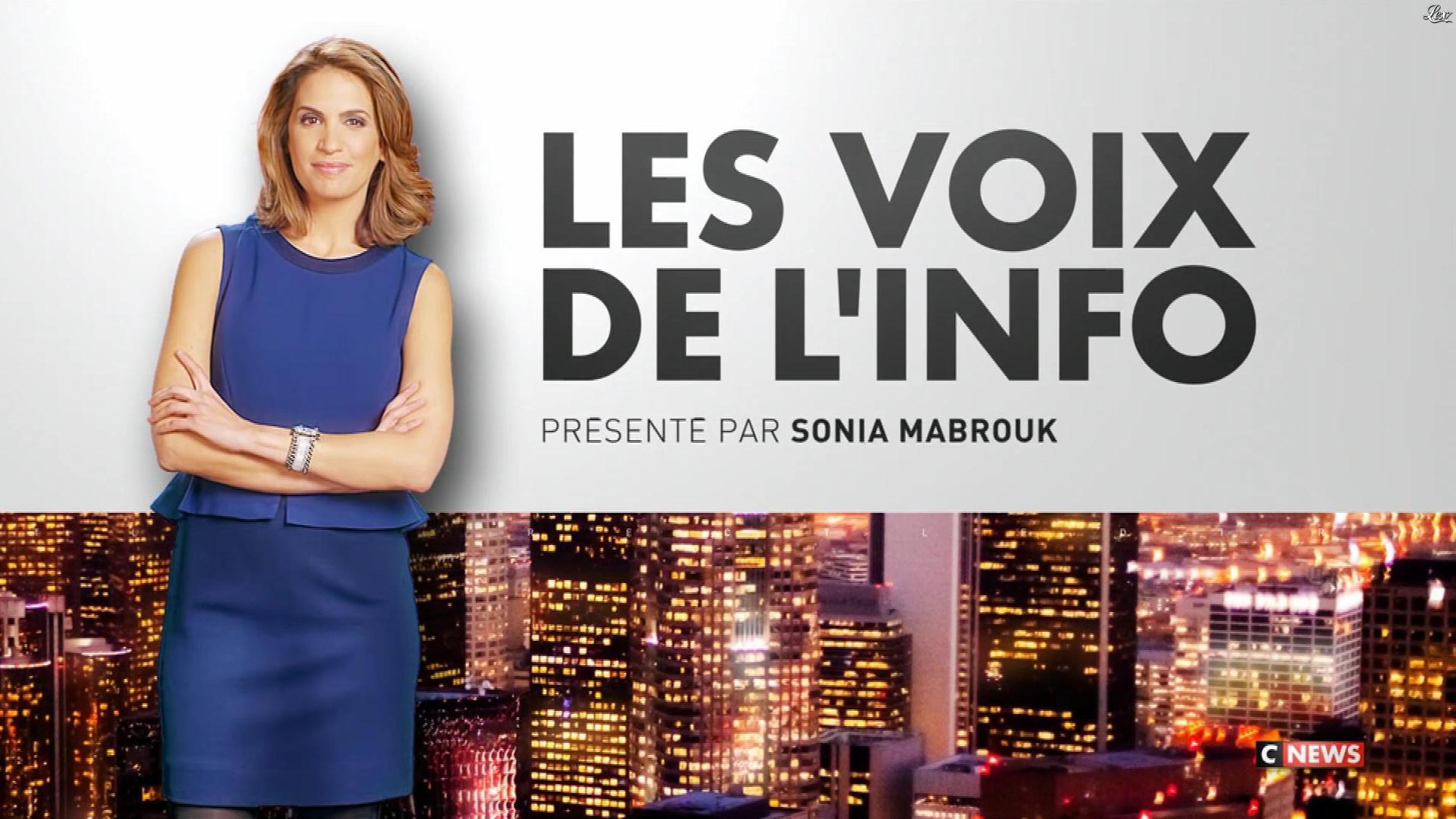 Sonia Mabrouk dans les Voix de l'Info. Diffusé à la télévision le 15/11/17.