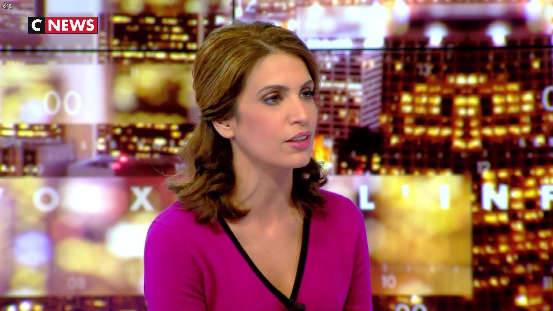 Sonia Mabrouk dans les Voix de l'Info. Diffusé à la télévision le 16/11/17.