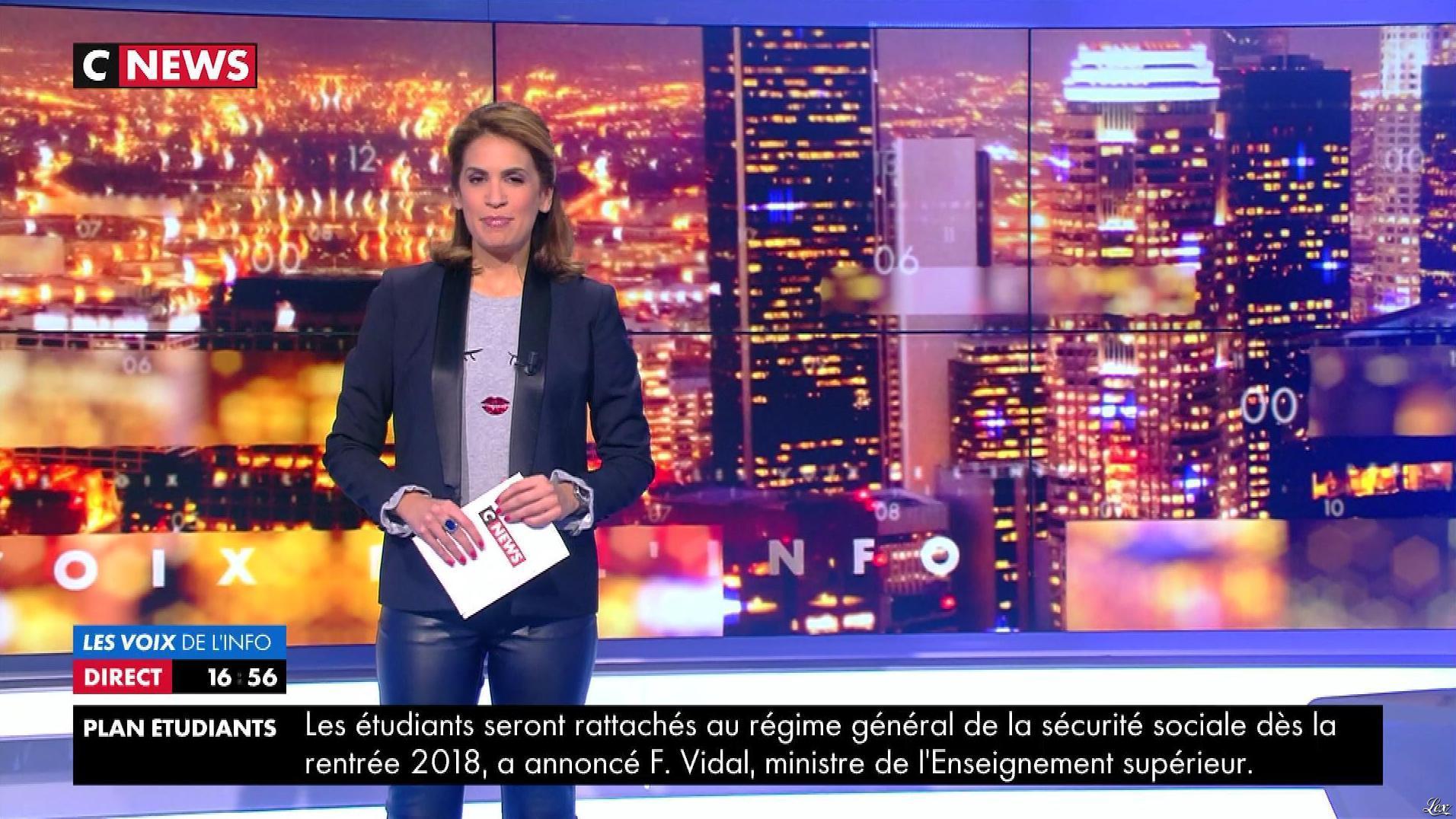Sonia Mabrouk dans les Voix de l'Info. Diffusé à la télévision le 30/10/17.