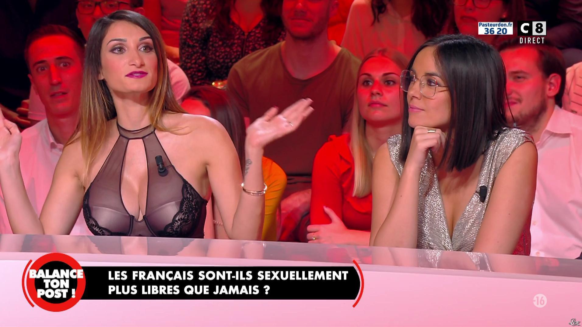 Agathe Auproux et Chloé Sanchez dans Balance ton Post. Diffusé à la télévision le 12/10/18.