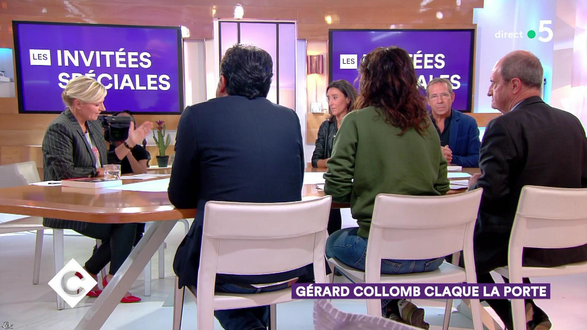 Anne-Elisabeth Lemoine dans C à Vous. Diffusé à la télévision le 03/10/18.