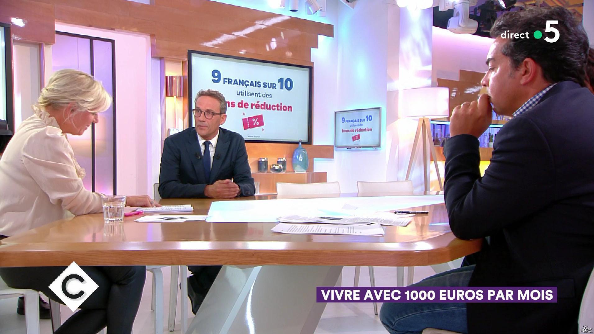 Anne-Elisabeth Lemoine dans C à Vous. Diffusé à la télévision le 13/09/18.