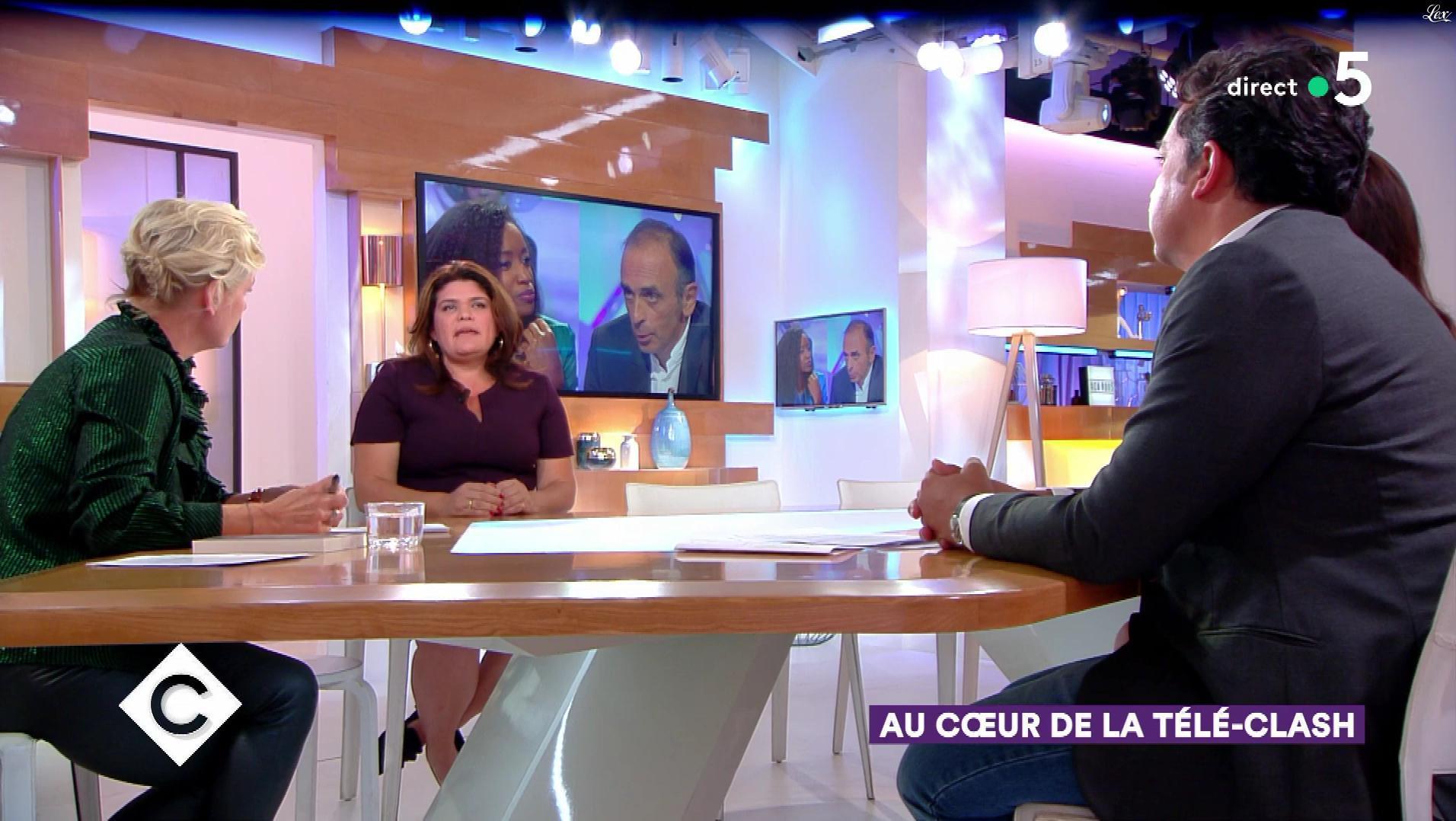Anne-Elisabeth Lemoine dans C à Vous. Diffusé à la télévision le 25/09/18.