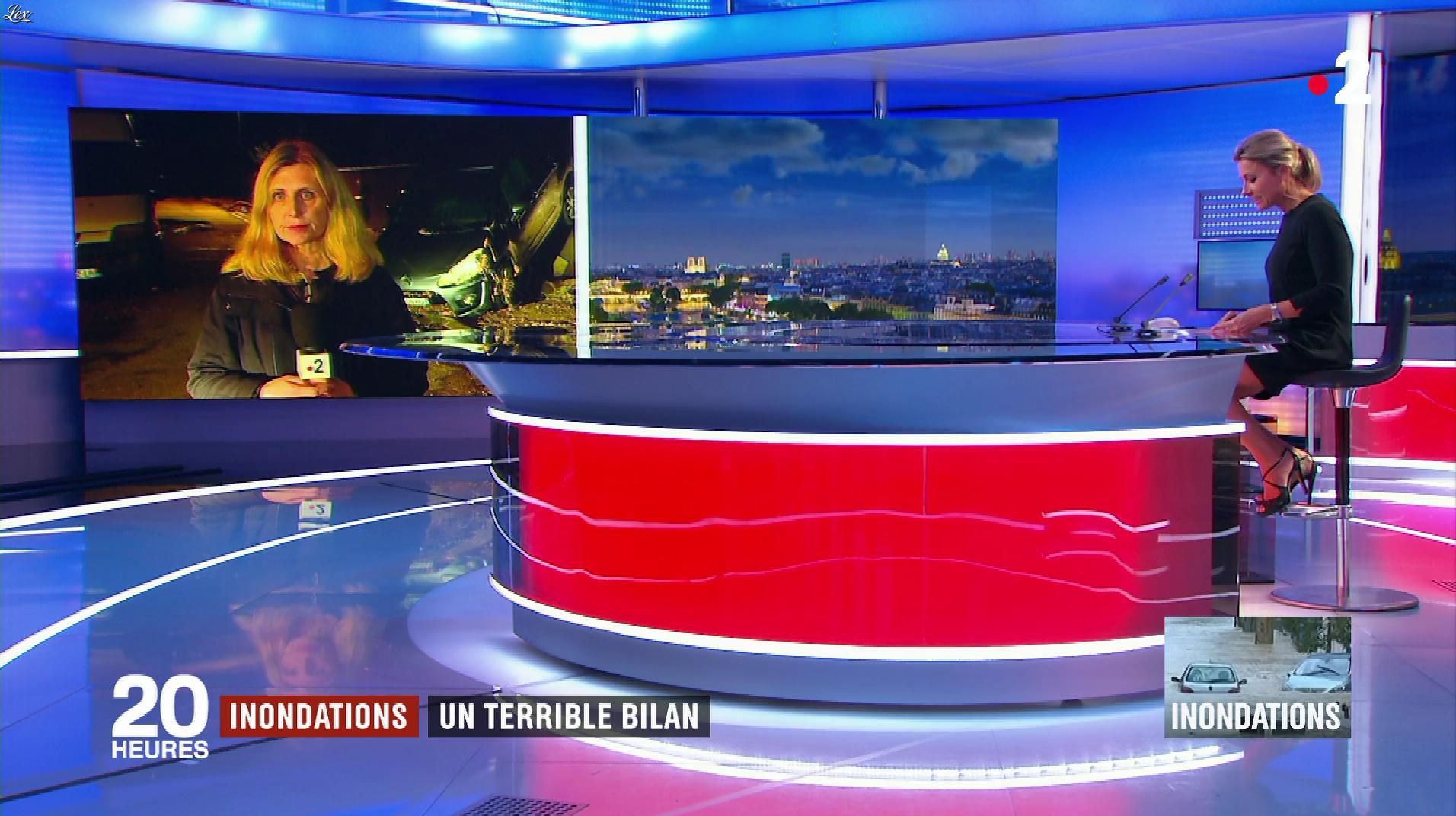 Anne-Sophie Lapix dans le 20h. Diffusé à la télévision le 15/10/18.