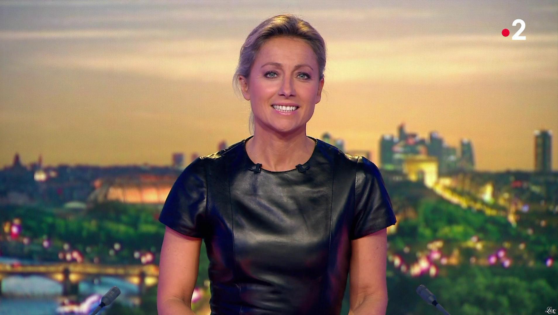 Anne-Sophie Lapix dans le 20h. Diffusé à la télévision le 17/10/18.