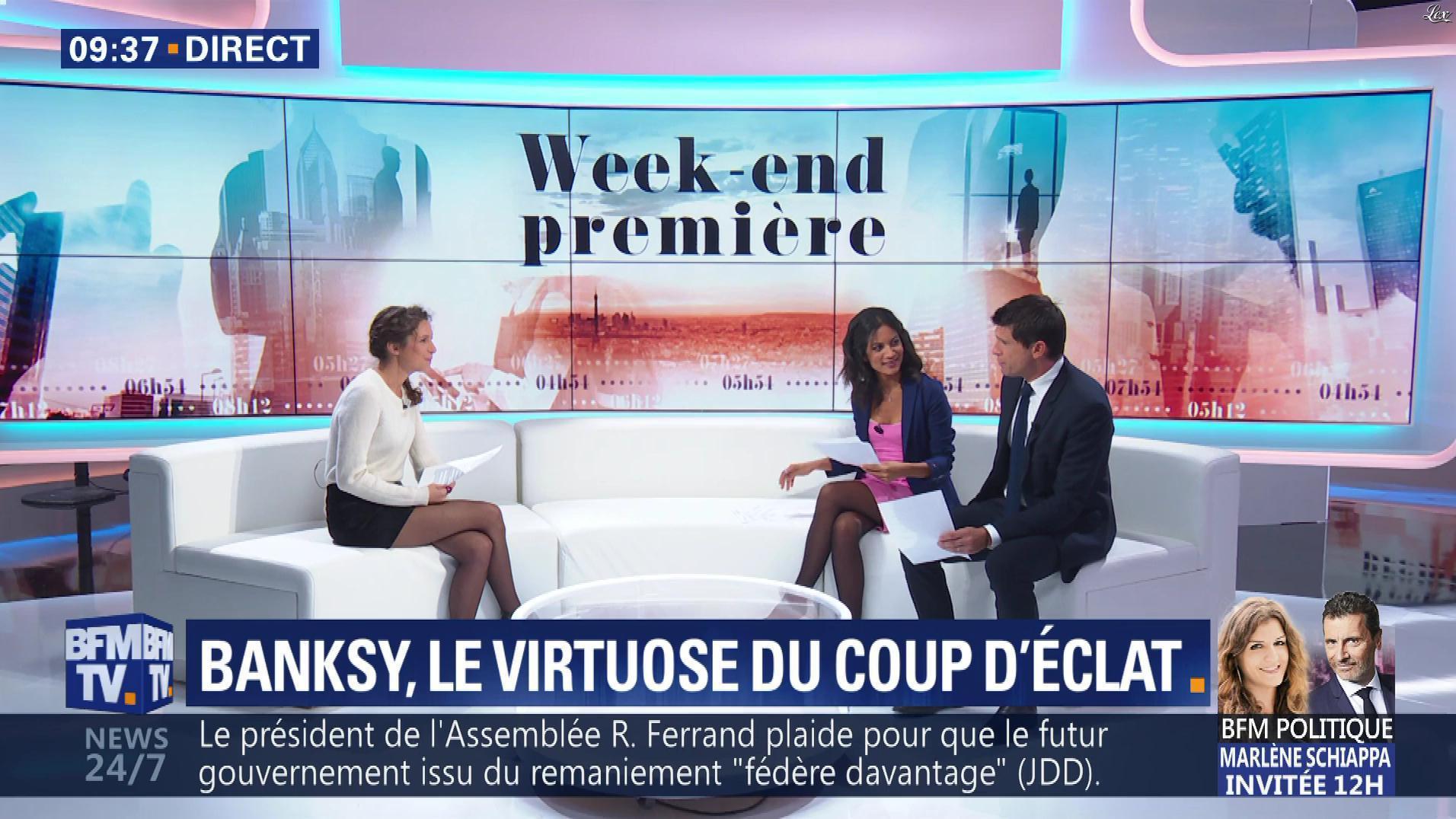 Aurélie Casse et Nina Godart dans Week-End Première. Diffusé à la télévision le 07/10/18.