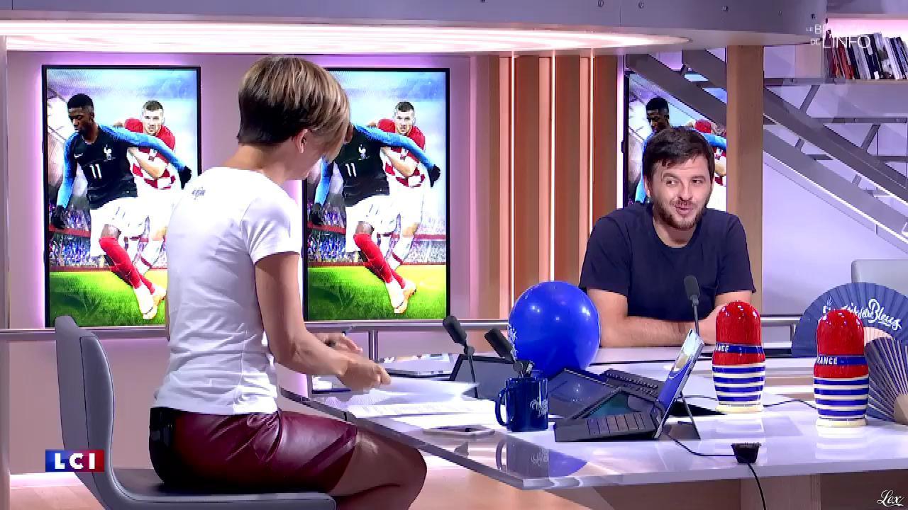 Bénédicte Le Chatelier dans le Brunch. Diffusé à la télévision le 15/07/18.