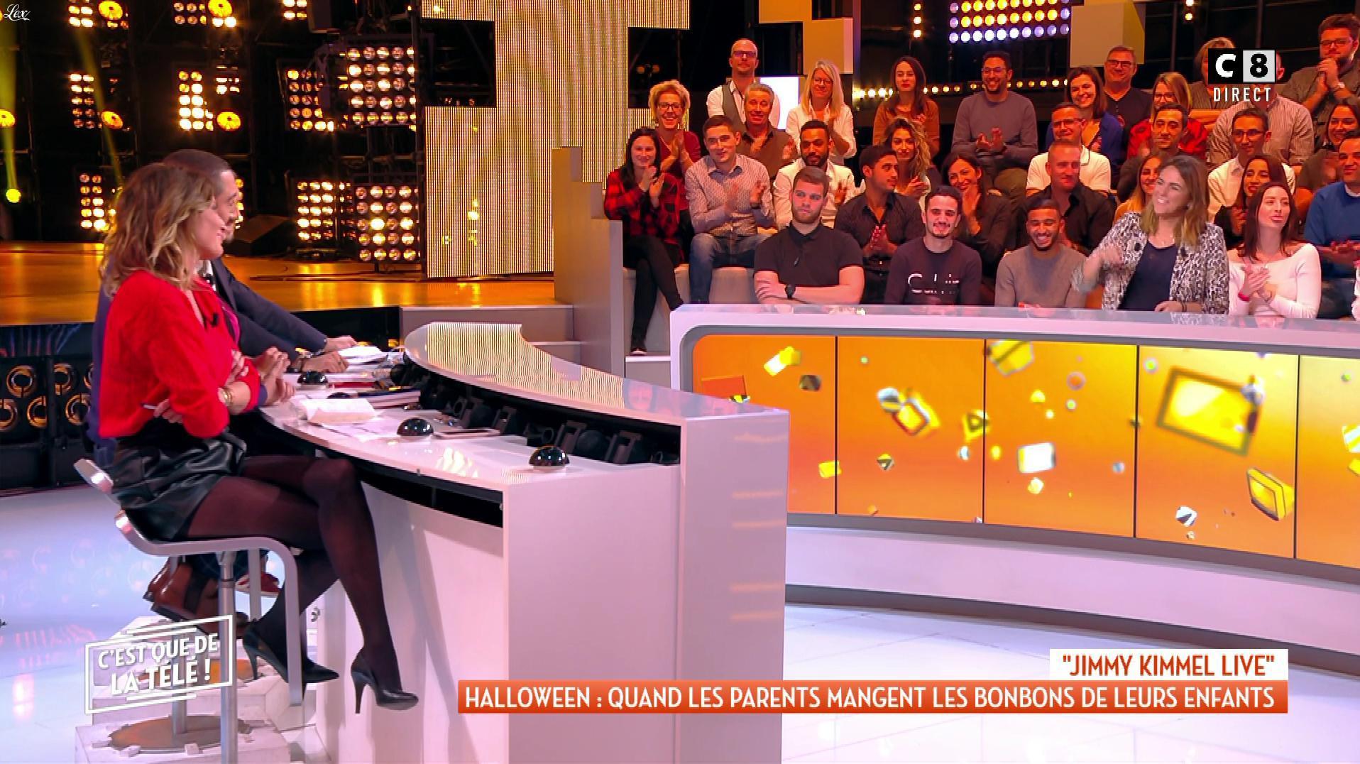 Caroline Ithurbide dans c'est Que de la Télé. Diffusé à la télévision le 01/11/18.
