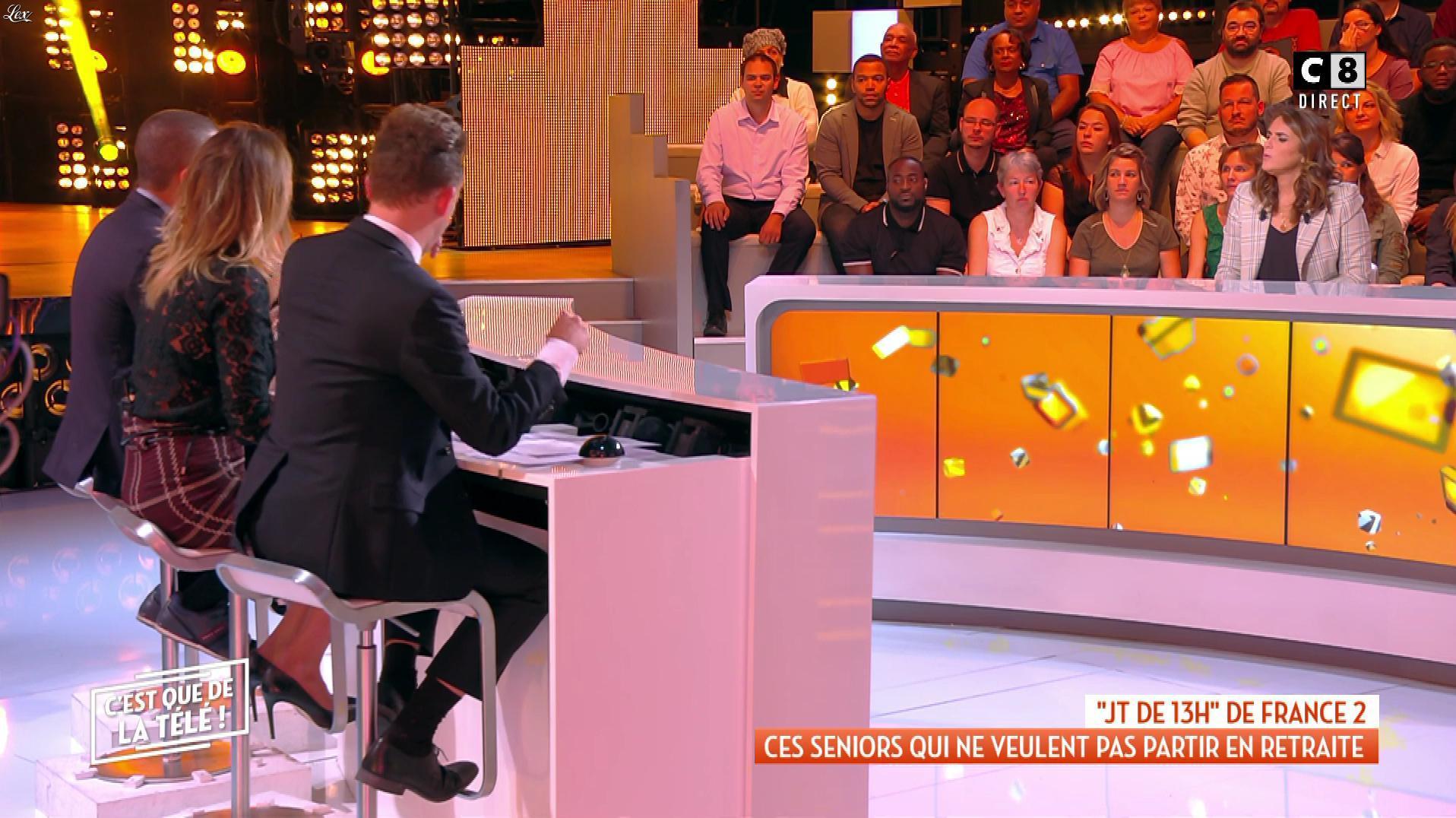 Caroline Ithurbide dans c'est Que de la Télé. Diffusé à la télévision le 24/09/18.