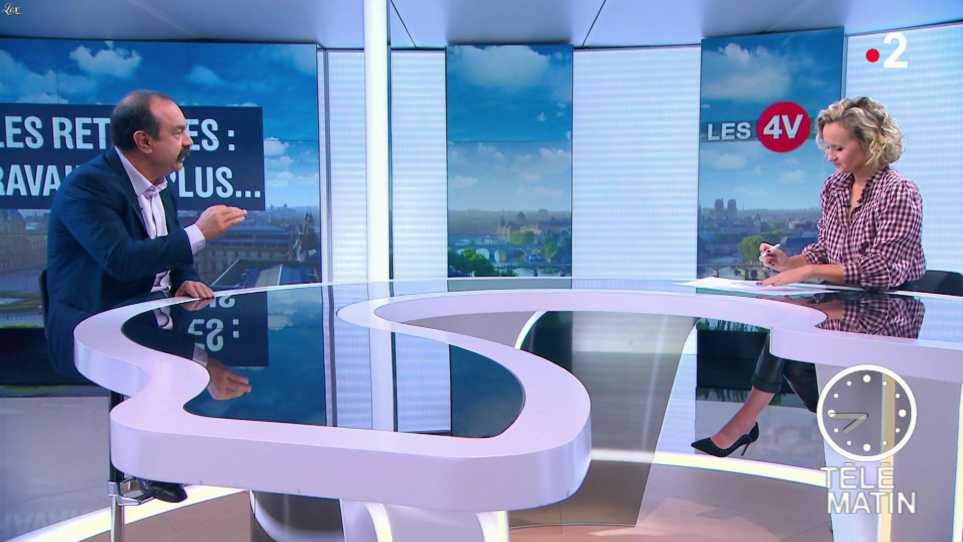 Caroline Roux dans les 4 Vérités. Diffusé à la télévision le 09/10/18.