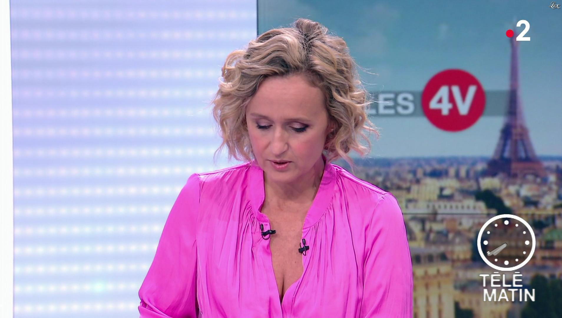 Caroline Roux dans les 4 Vérités. Diffusé à la télévision le 17/10/18.