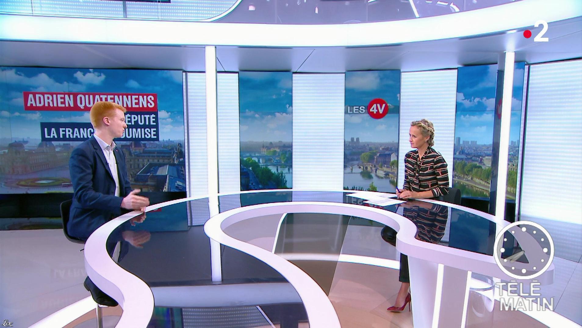 Caroline Roux dans les 4 Vérités. Diffusé à la télévision le 19/09/18.