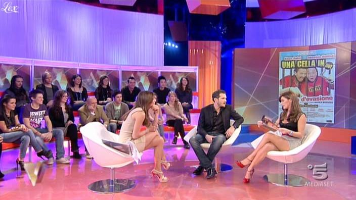 Silvia Toffanin et Melita Toniolo dans Verissimo. Diffusé à la télévision le 05/03/11.