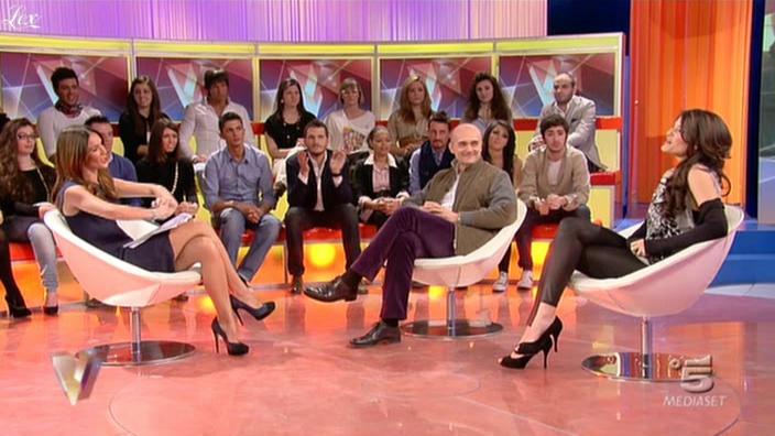 Silvia Toffanin et MoniÇa Riva dans Verissimo. Diffusé à la télévision le 05/02/11.