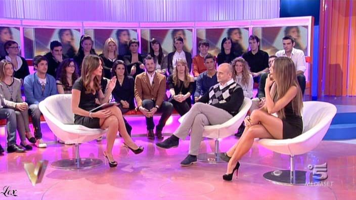 Silvia Toffanin et Nina Senicar dans Verissimo. Diffusé à la télévision le 19/02/11.