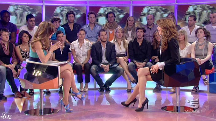 Silvia Toffanin et Szilvia dans Verissimo. Diffusé à la télévision le 07/05/11.