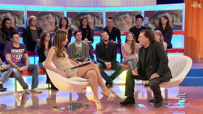 Silvia Toffanin dans Verissimo. Diffusé à la télévision le 05/03/11.