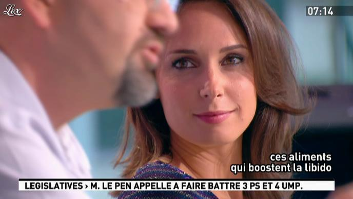 Julia Vignali dans la Matinale. Diffusé à la télévision le 12/06/12.