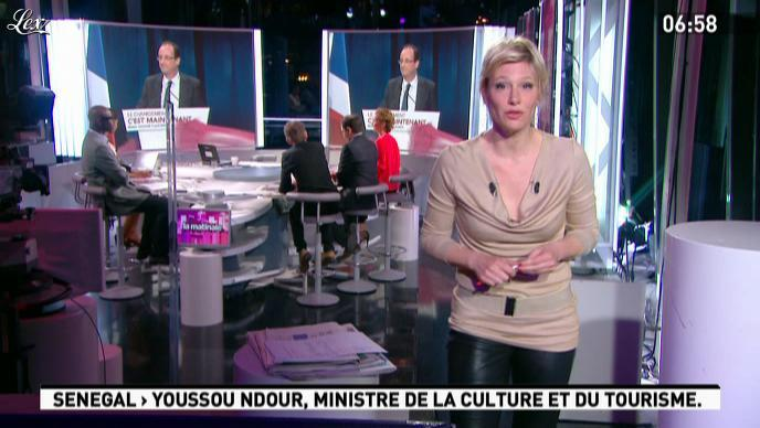 Maïtena Biraben dans la Matinale. Diffusé à la télévision le 05/04/12.