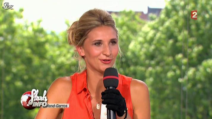 Tatiana Golovin dans le Petit Journal. Diffusé à la télévision le 29/05/12.