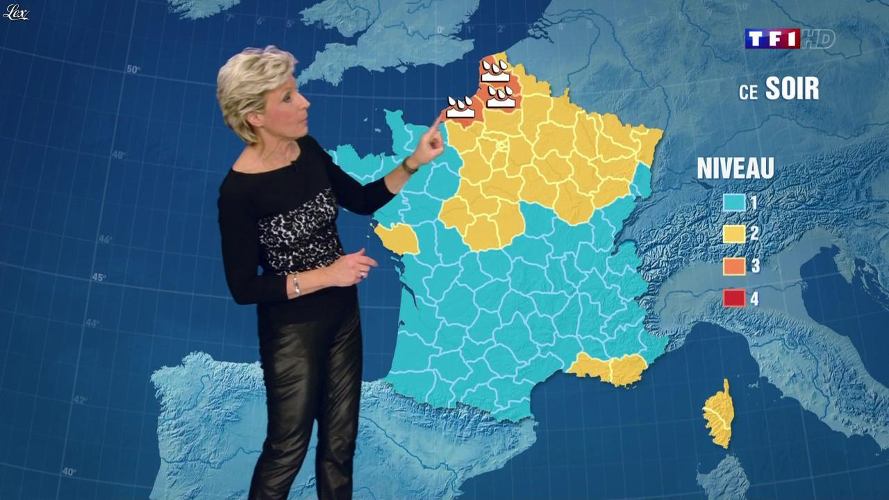Evelyne Dhéliat à la Météo de 20h. Diffusé à la télévision le 25/09/13.