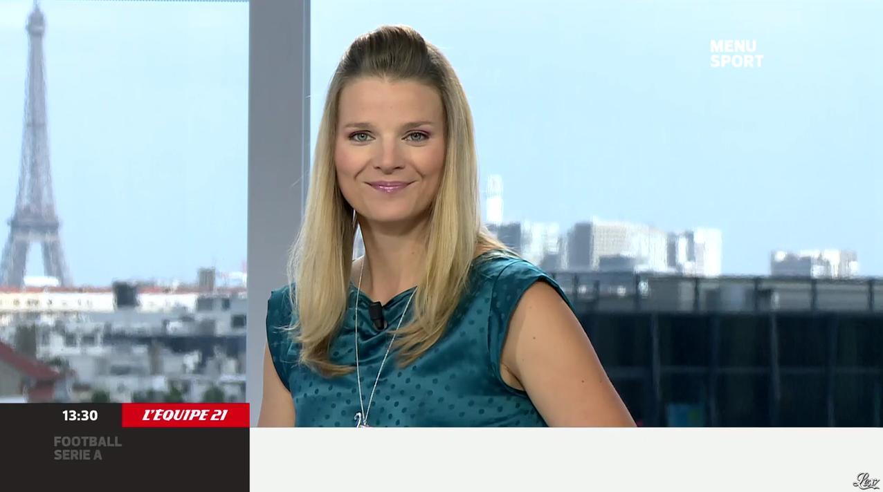 France Pierron dans Menu Sport. Diffusé à la télévision le 16/09/13.