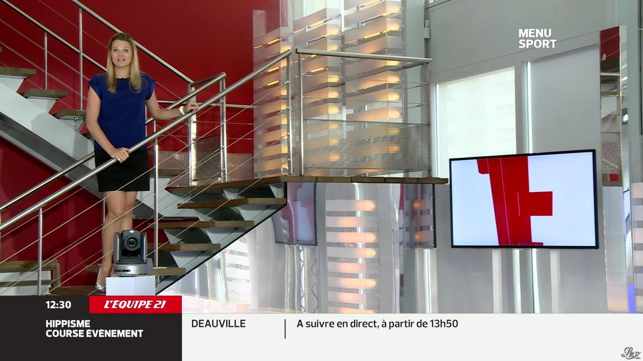 France Pierron dans Menu Sport. Diffusé à la télévision le 29/07/13.
