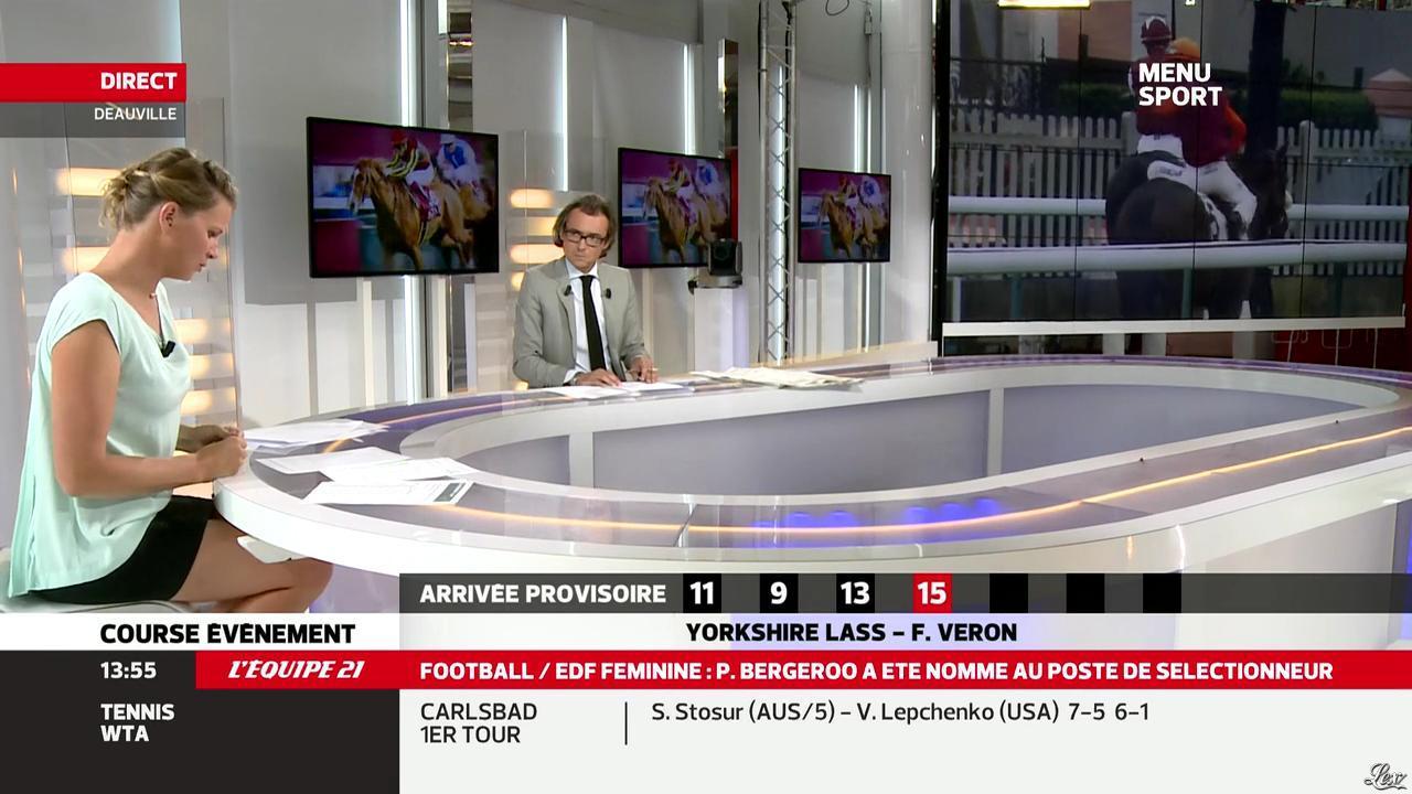 France Pierron dans Menu Sport. Diffusé à la télévision le 30/07/13.