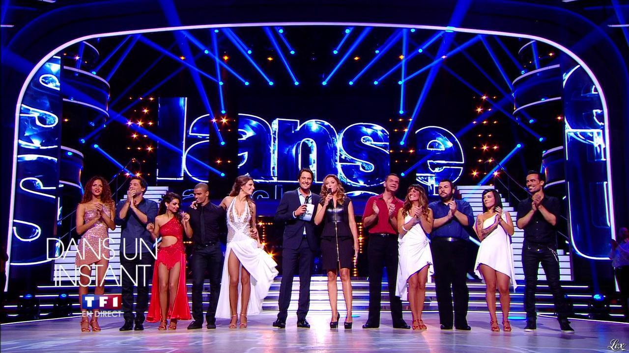 Laetitia Milot, Tal, Sandrine Quétier, Noemie Lenoir, Alizée et Laury Thilleman dans DALS. Diffusé à la télévision le 05/10/13.
